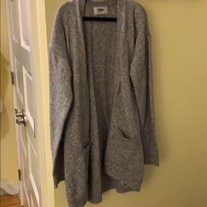 Girls Old Navy Gray Long Cardigan Sweater Sz 8